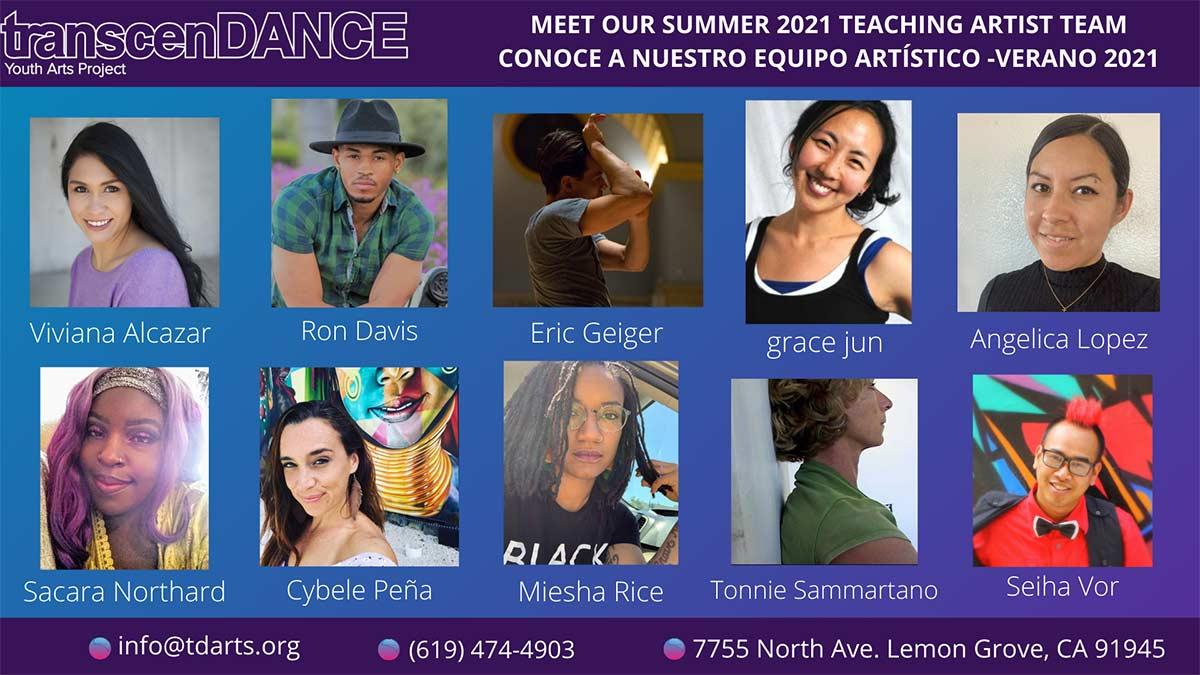 Summer 2021: Meet The Teaching Artist Team